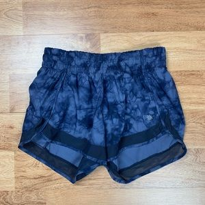 Athleta Tie Dye Running Shorts